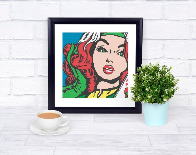 Unofficial Rogue Counted Cross Stitch - Iconic Pop Art Imagery - PDF Pattern - INSTANT DOWNLOAD