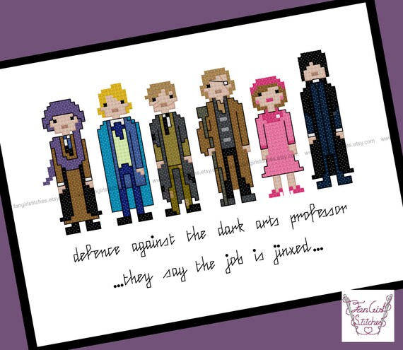 Defence Against The Dark Arts Harry Potter Themed Cross Etsy