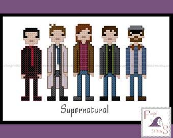 Supernatural Inspired Cross Stitch Pattern - PDF Pattern - INSTANT DOWNLOAD