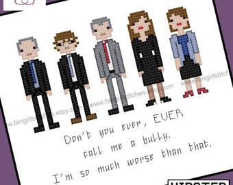 Thick of It inspired cross stitch pattern - PDF Pattern - Instant DOWNLOAD - Contains EXPLICIT content