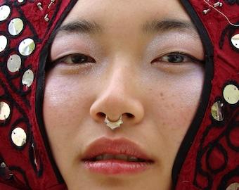 Tribal piercing septum ring
