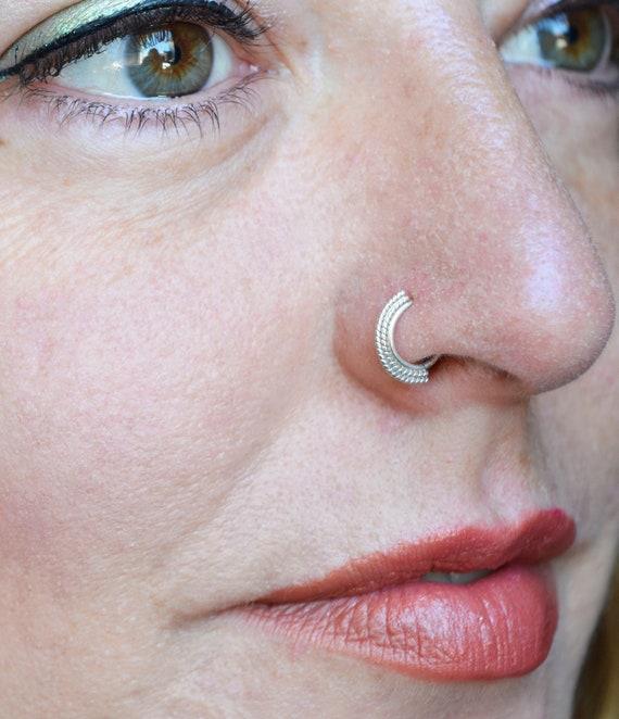 Tribal Nose Ring Nose Piercing Nostril Ring Indian Nose Etsy