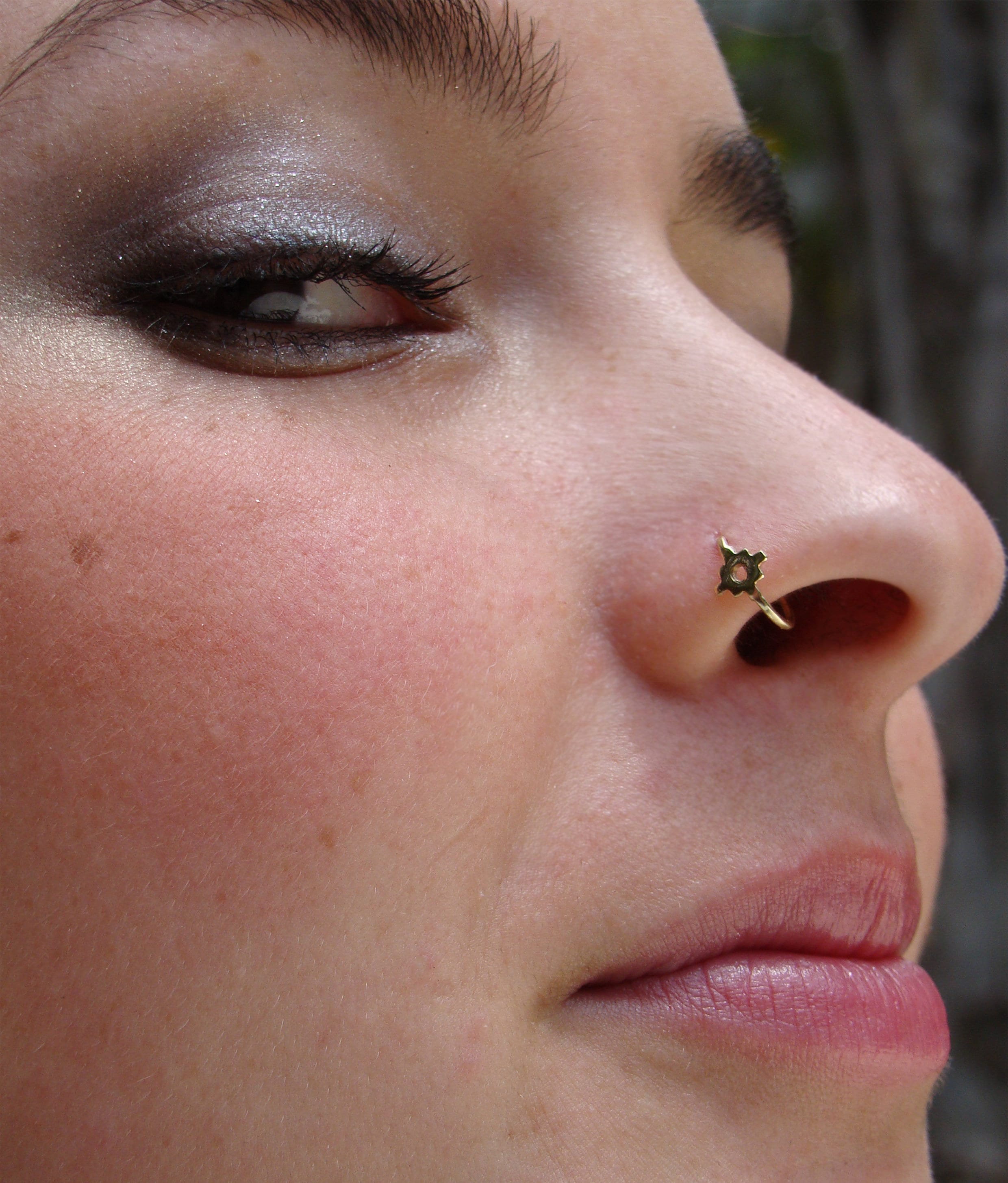 Tribal Nose Ring Chakana Gold Nose Ring Unique Nose Ring Etsy
