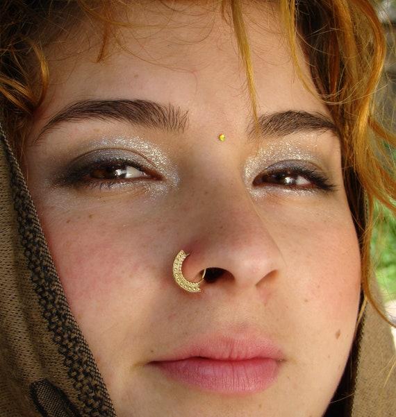 Diana Gold Nose Ring Tribal Nose Ring Nose Ring Cartilage Etsy