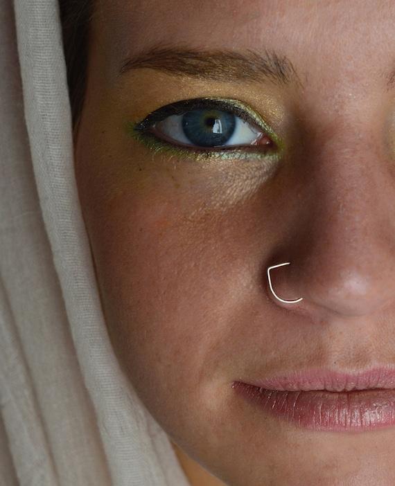 nostril ring nose ring 925 nose ring Delicate Nose Ring septum Indian tribal nose ring nose hoop silver nose ring tiny nose ring