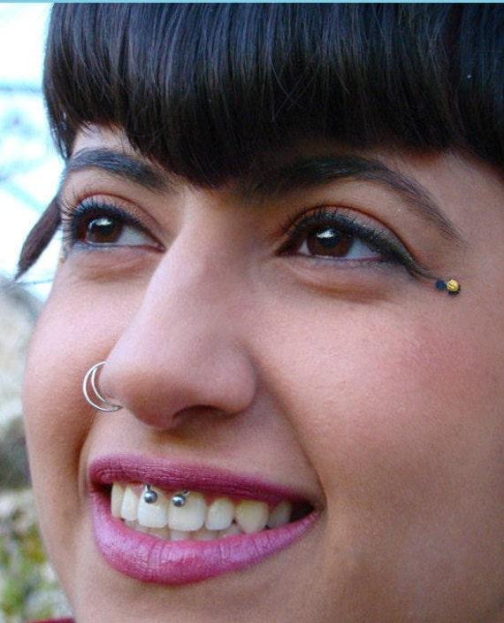 Silver Nose Ring Nostril Ring Nose Hoop Half Moon Nose Etsy