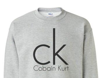 8786e62f4f0 Kurt Cobain Sweatshirt - Nirvana Sweatshirt - Rock and Roll T-shirt - Band  T-shirt - Music Tee