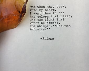 She made broken look beautiful Poem love poem original poetry typography love letter love note quote typewritten wedding vows Nova 100