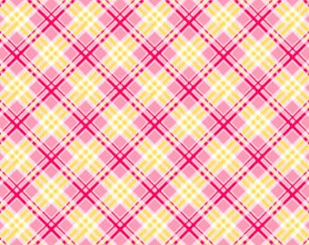 Pam Kitty Picnic Check - Pink, Yellow and Red Plaid
