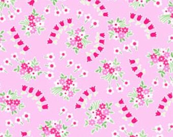 Pam Kitty Garden - Tulip Sprays on Petunia Pink