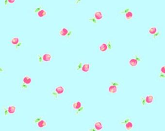 Pam Kitty Garden - Small Flower on Aqua