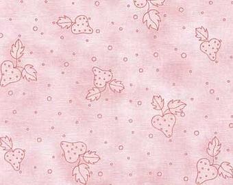 Nice People Nice Things - Strawberries on Pink - by  Helen Stubbings