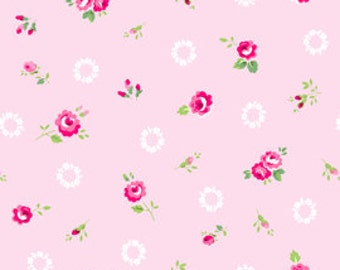Pam Kitty - Roses on Pink with White Wreath