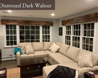 Rustic Farmhouse Valance // Wooden Valance // Window Cornice Board // Window Valance // Rustic Window Decor