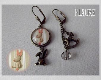 """Earrings """"cuddly rabbit ''"""
