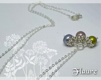 Necklace bunch of cultured pearls, jewelry pearls cultures, gift idea