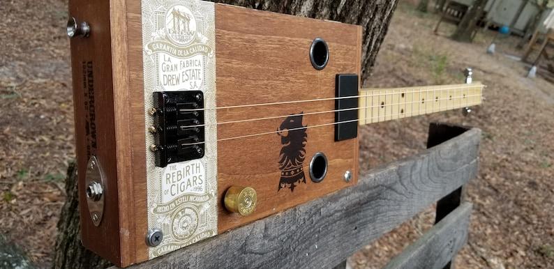 Cigar box guitar  3 String Electric / Humbucker Pickup image 0