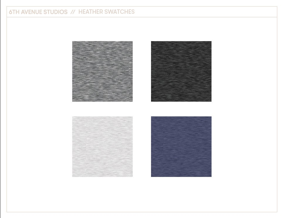 Heather swatches for ADOBE ILLUSTRATOR