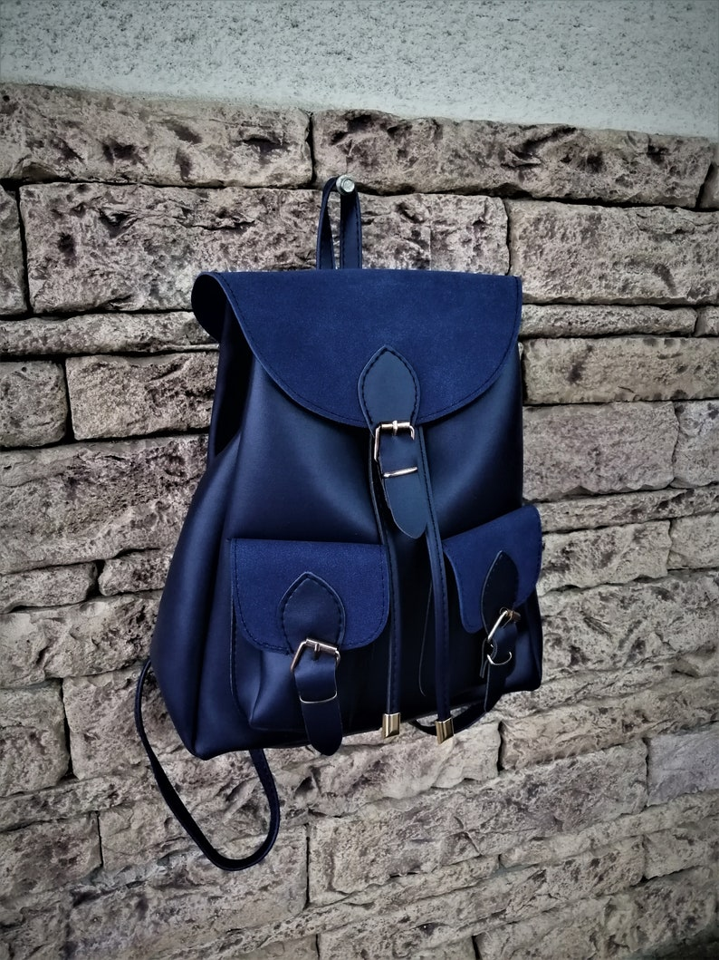 9a6fa8429a Backpack Vegan Leather Small Back Pack Girl Hippy Backpack