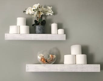 White Floating Shelves | Etsy