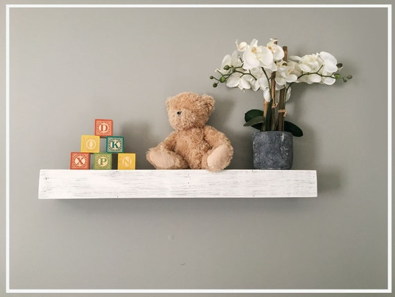 Fantastic Custom Length And Depth Floating Shelves Reclaimed Wood Whitewashed Nursery Interior Design Ideas Oxytryabchikinfo