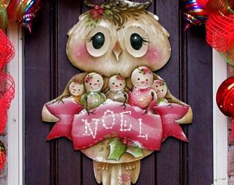 outdoor christmas decorations christmas owl you need is love wooden door hanger by jamie mills price wall decor 8457509h - Outdoor Owl Christmas Decorations