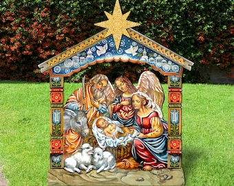 outdoor christmas decorations nativity outdoor nativity scene nativity set yard lawn sign 8114031f