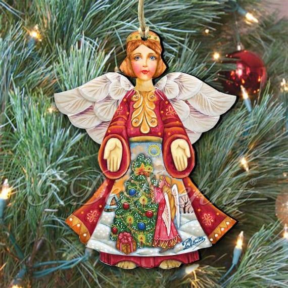 Etsy Christmas Ornaments.Holiday Decor Holiday Ornaments Christmas Ornaments Christmas Tree Angel Christmas Ornament Holiday Tree Decoration 8154103