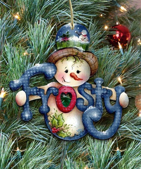 Wooden Christmas Tree Ornaments Christmas ornaments Holiday Tree Decoration by Jamie Mills-Price 8457502