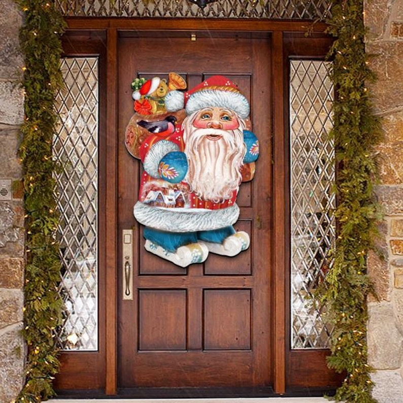 Outdoor Christmas Decorations Sale Christmas Decor Santa Etsy