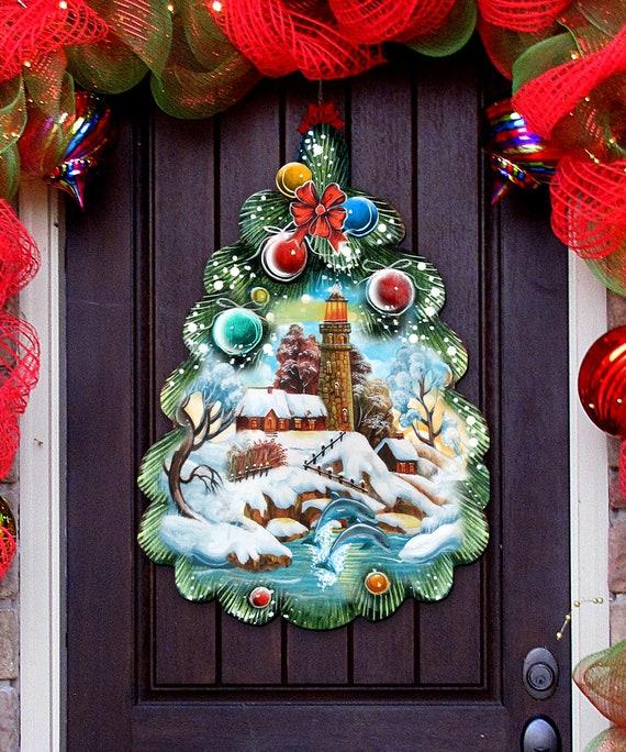 Outdoor Christmas Decorations , Indoor Outdoor Christmas Tree Door Hanger \u0026  Wall Décor by G.DeBrekht 8119185H