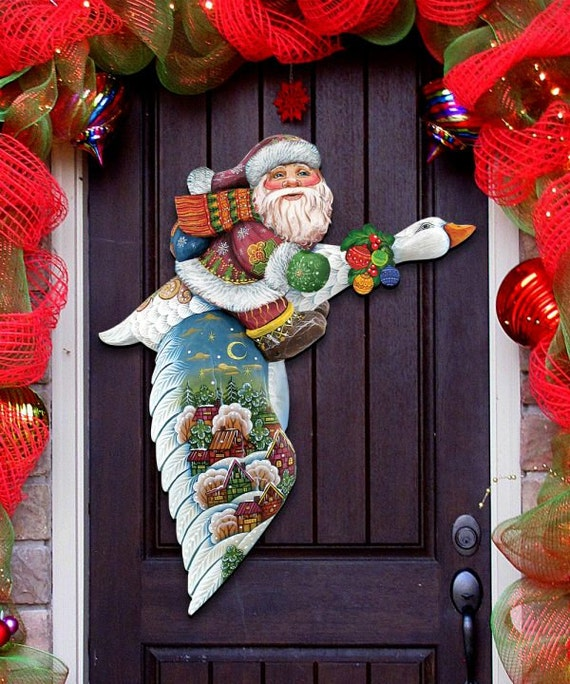 Sale Outdoor Christmas Decorations Christmas Front Door Etsy