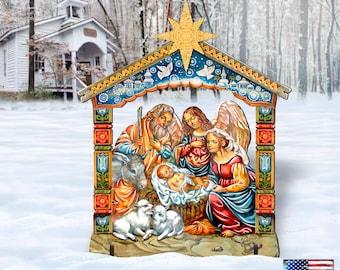 Outdoor Christmas Decorations NATIVITY - Outdoor Nativity Scene - Nativity Set - Yard Lawn Sign 8114031F