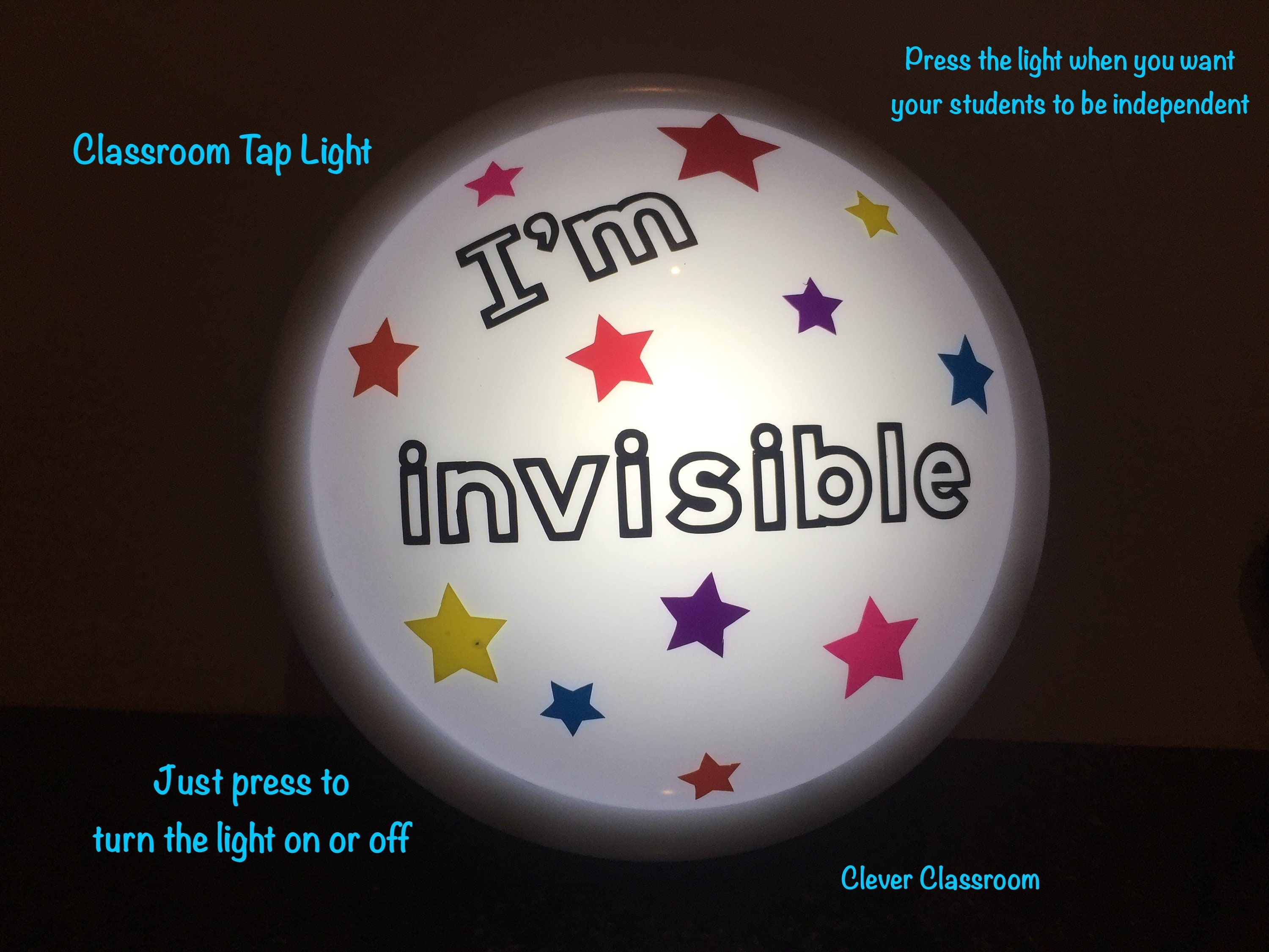 How Can So Many Students Be Invisible >> Large I M Invisible Tap Light Touch Light Push Light For