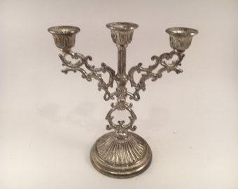 Vintage Miniature Candelabra - Miniature Candelabra - Candelabra - Vintage Wedding - Wedding - Candle Holder - Silver Candelabra - Silver