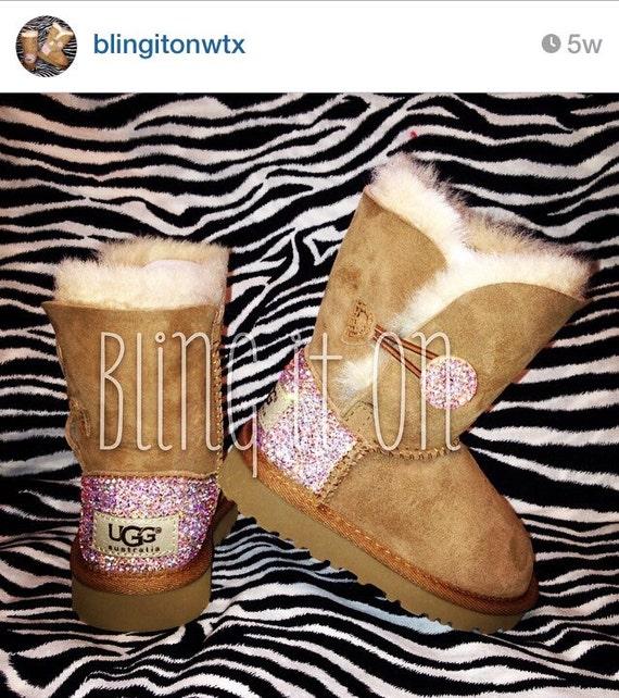 Swarovski Toddler Bailey Button Ugg boots
