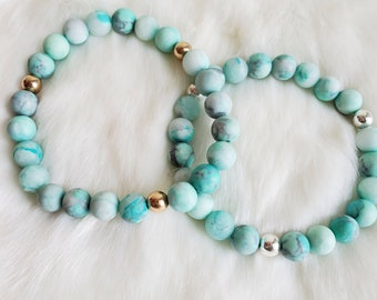 Howlite Necklace Howlite Bead Necklace Healing Crystal Jewelry E0820 34 Deep Turquoise Blue Dyed HOWLITE Chip Necklace Howlite Jewelry