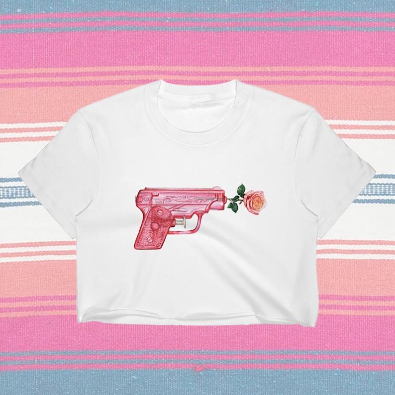 Watercolor Watergun Crop Top
