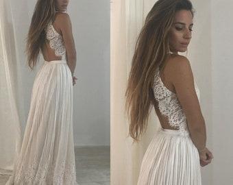 19d37d51bb 2 piece wedding dress