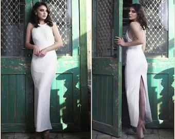 Crochet Lace Wedding Dress, Stretch Wedding Dress, White Dress, Bridal dress, bridal gown, Wedding Gown, Designer Wedding Dress