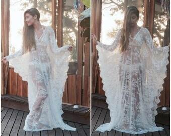 Lace kaftan, Lace Cover Up, Lace Dress, Beach Lace Dress, Wedding Lingerie, Tunic, Kaftan Dress, beach caftan, Jalabiya, Beach cover ups