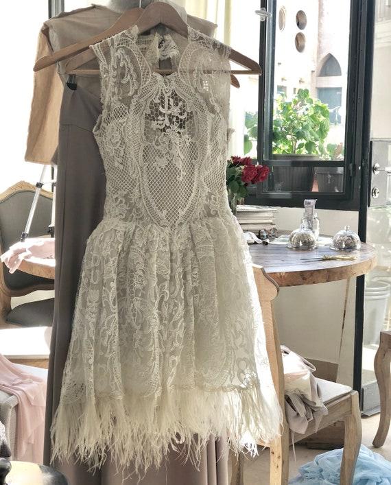 Short Wedding Dress Short Lace Wedding Dress Beach Wedding Etsy