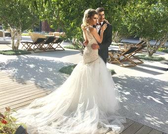 Mermaid Wedding Dress, Low Back Wedding Dress, Bridal gown, mermaid Wedding, Wedding Dress Mermaid, Open Back Wedding dress, Bridal dress
