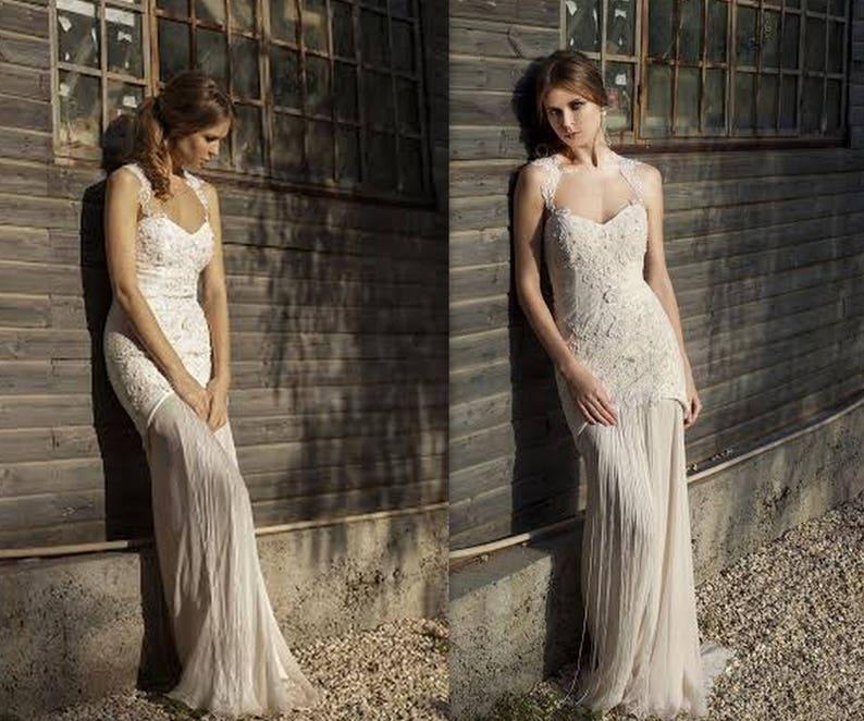 f496d1bfc6 Elegancka Francuska suknia ślubna koronki suknia ślubna