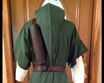 3 Piece Costume For Legend Of Zelda Link, Cosplay, Elf or Warrior-Tunic, Hat and Belt/Strap Only