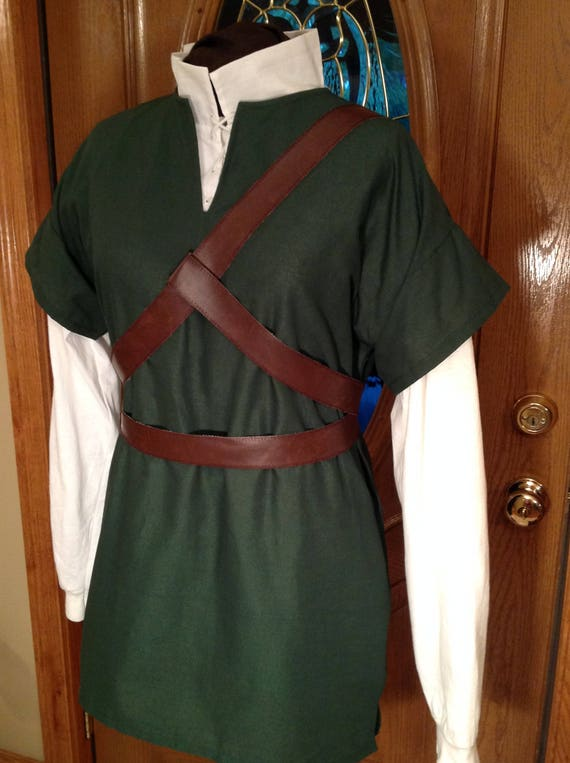 5 PC Costume For Legend Of Zelda, Link, Cosplay, Elf, Warrior, Twilight Princess, Breath of the Wild, Ocarina of Time-DK Brown