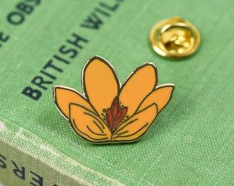 Yellow flower pin etsy luxury hard enamel crocus enamel pin yellow flower pin mightylinksfo
