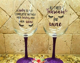 YOUnique Glitter Wine Glass!