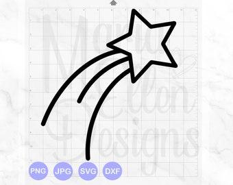 40+ Shooting Star Svg Dxf Design