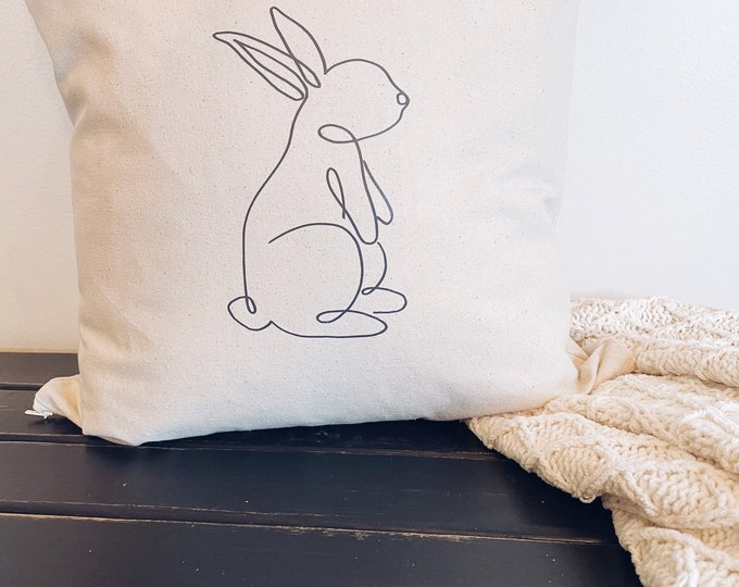 Bunny Rabbit Pillow Cover